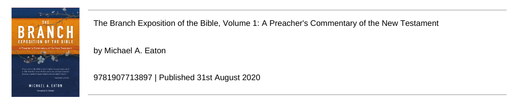 The Branch Exposition of the Bible, Vol 1: A Preacher's Commentary of the New Testament