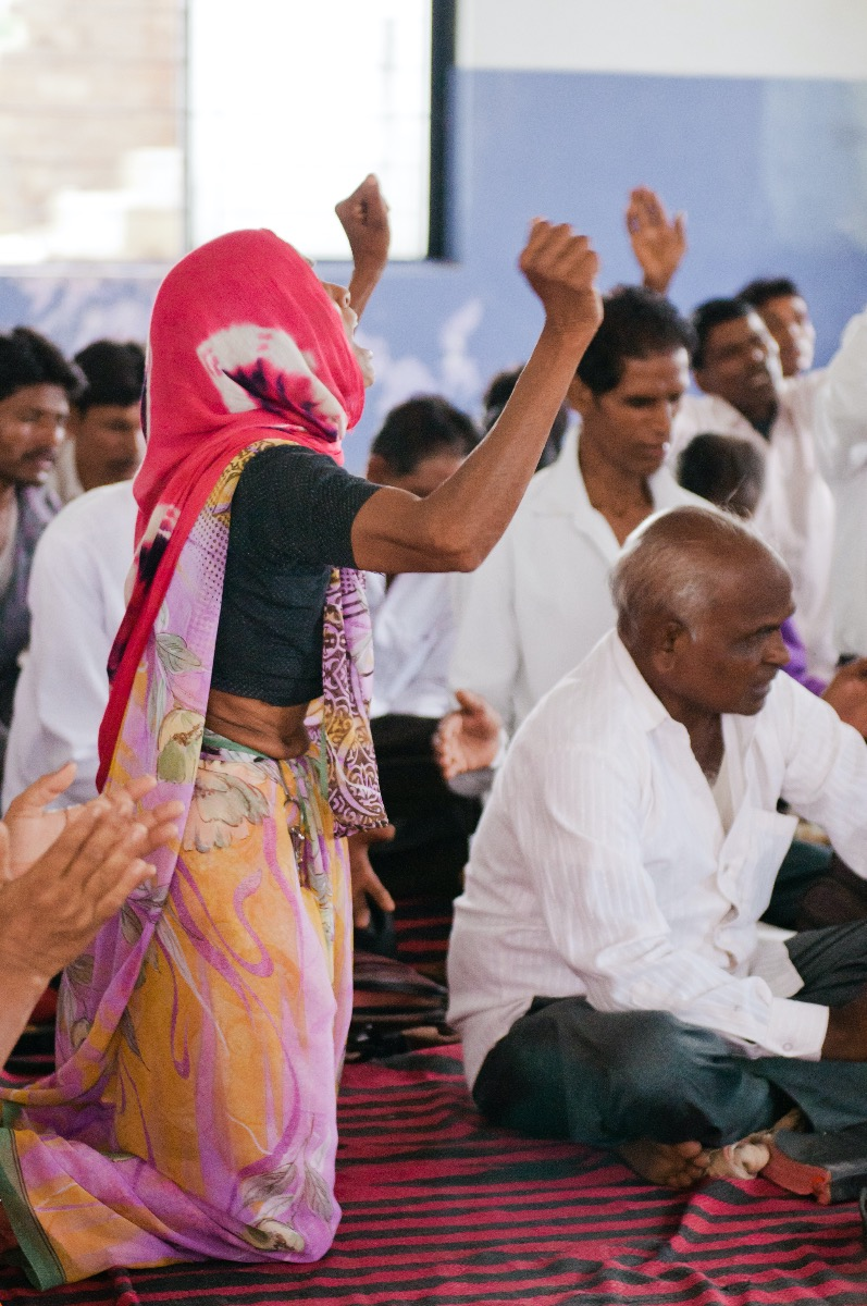 Worship service in India
