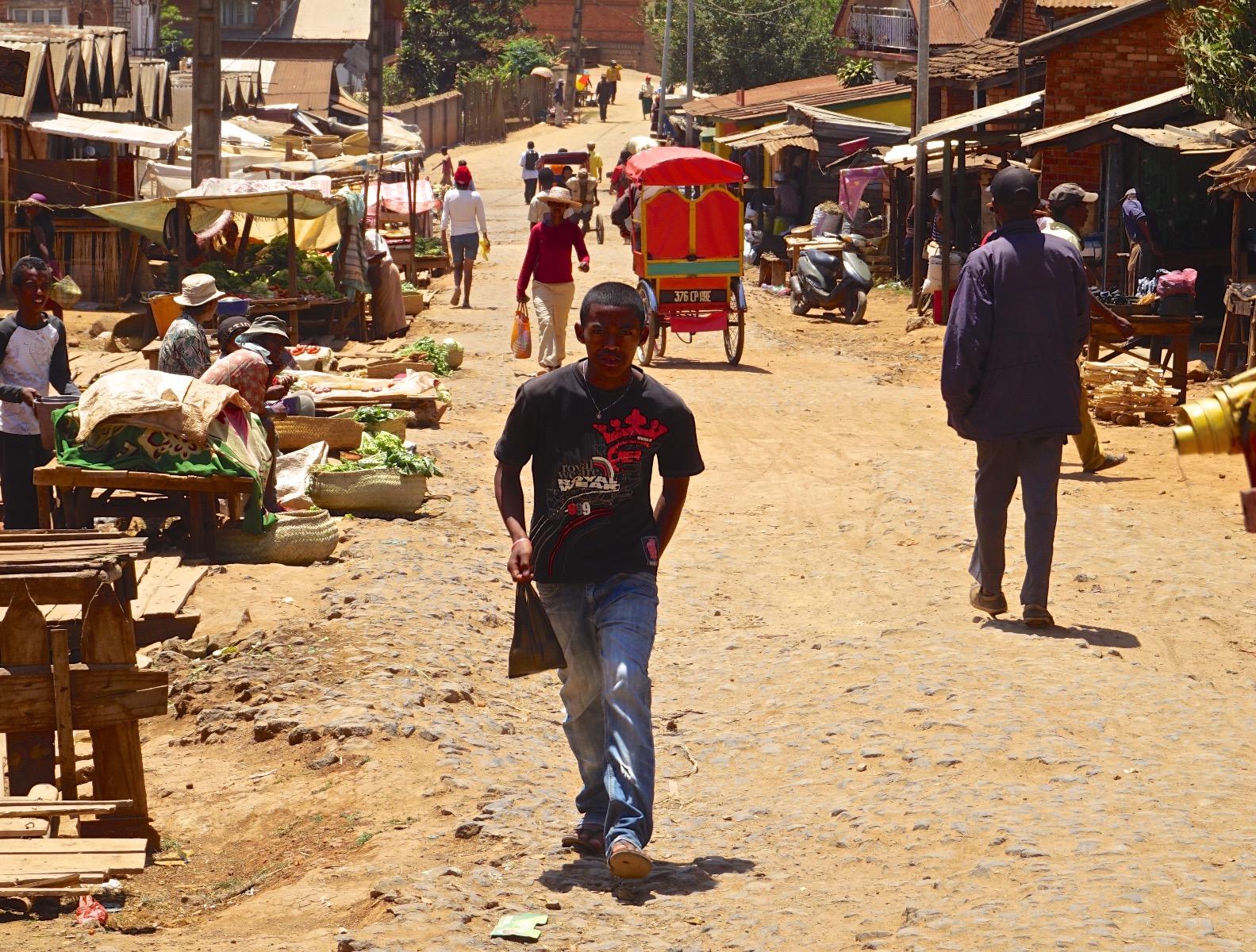 A street in Madagascar