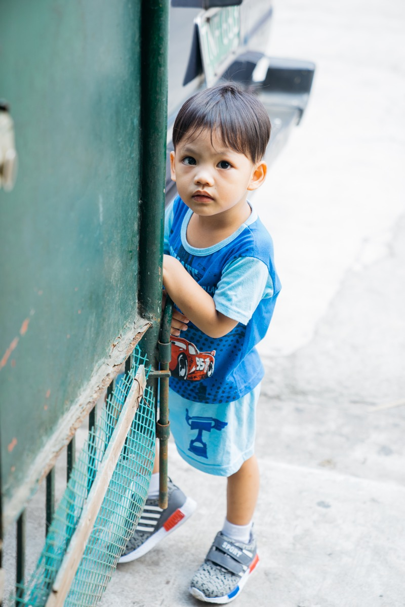 A child in the Philippines