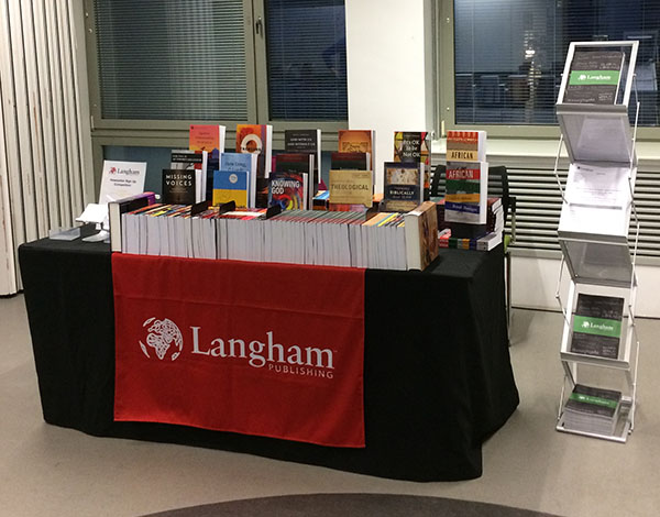 Langham Publishing Table at the SST conference 2019